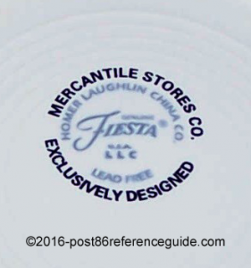 Fiesta® Pastel Trees backstamp