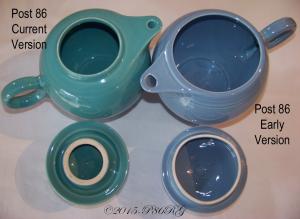 Fiesta® Post 86 Teapot Comparison