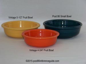 Fiesta® Small Bowl Comparison