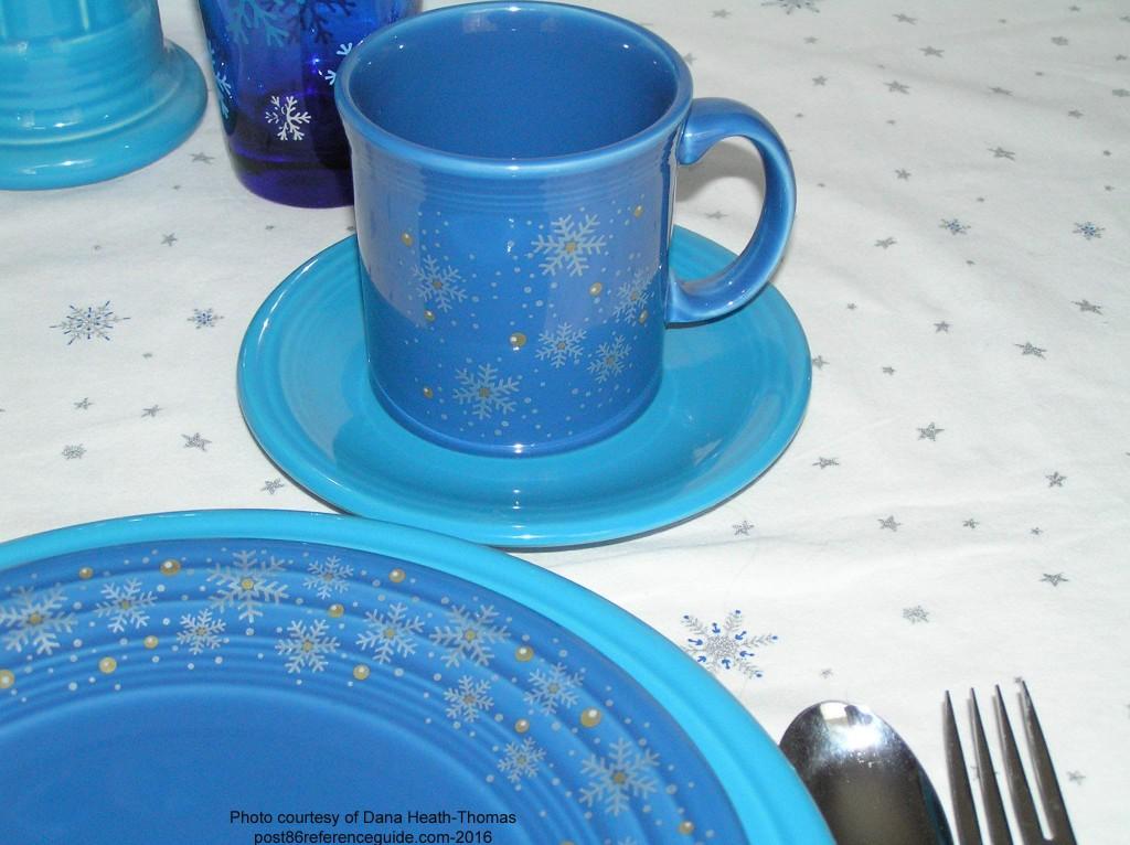 Fiesta Snowflake Lapis Mug rg j