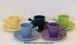Fiesta® AD Demitasse Cup & Saucer Stick Handle Set