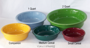 Fiesta Straight Sided Bowls