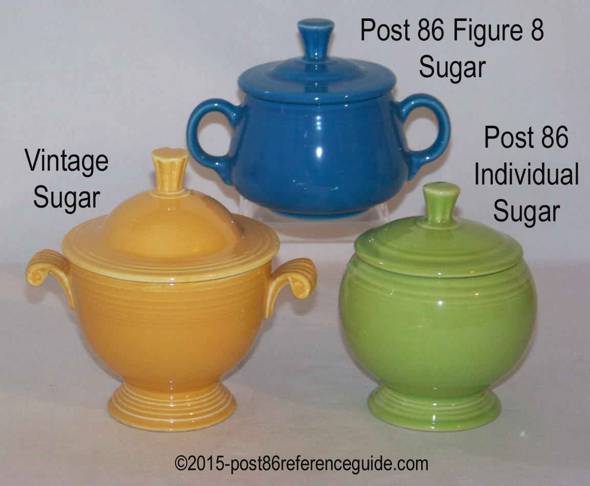 Sugar bowls with lids - Fiesta Covered Sugars Comparison Fiesta Ind Sugar Bowl Bases