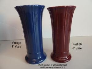 Fiesta® Vases 8 Inch Comparison
