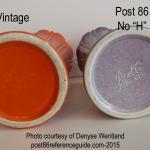 Fiesta® Vases Back Stamp Comparison