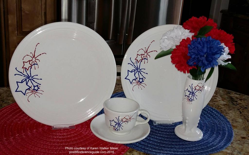 Fiesta® Fireworks Dinner Plate Cup Saucer Bud Vase