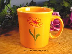 Fiesta® Floral Java Mug Tangerine