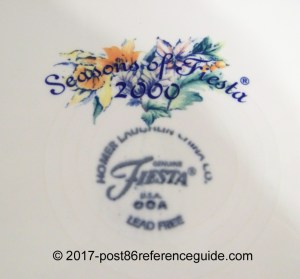 Seasons of Fiesta® backstamp