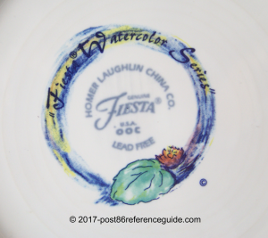 Fiesta® Watercolor backstamp