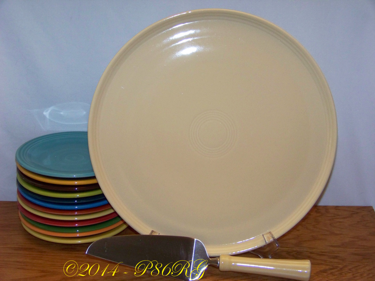 Fiesta® Cake Plate with Server in Ivory & Fiesta® Serving Pieces