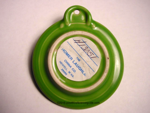 Fiesta® 2003 Outlet Ornament Not Produced BackSide