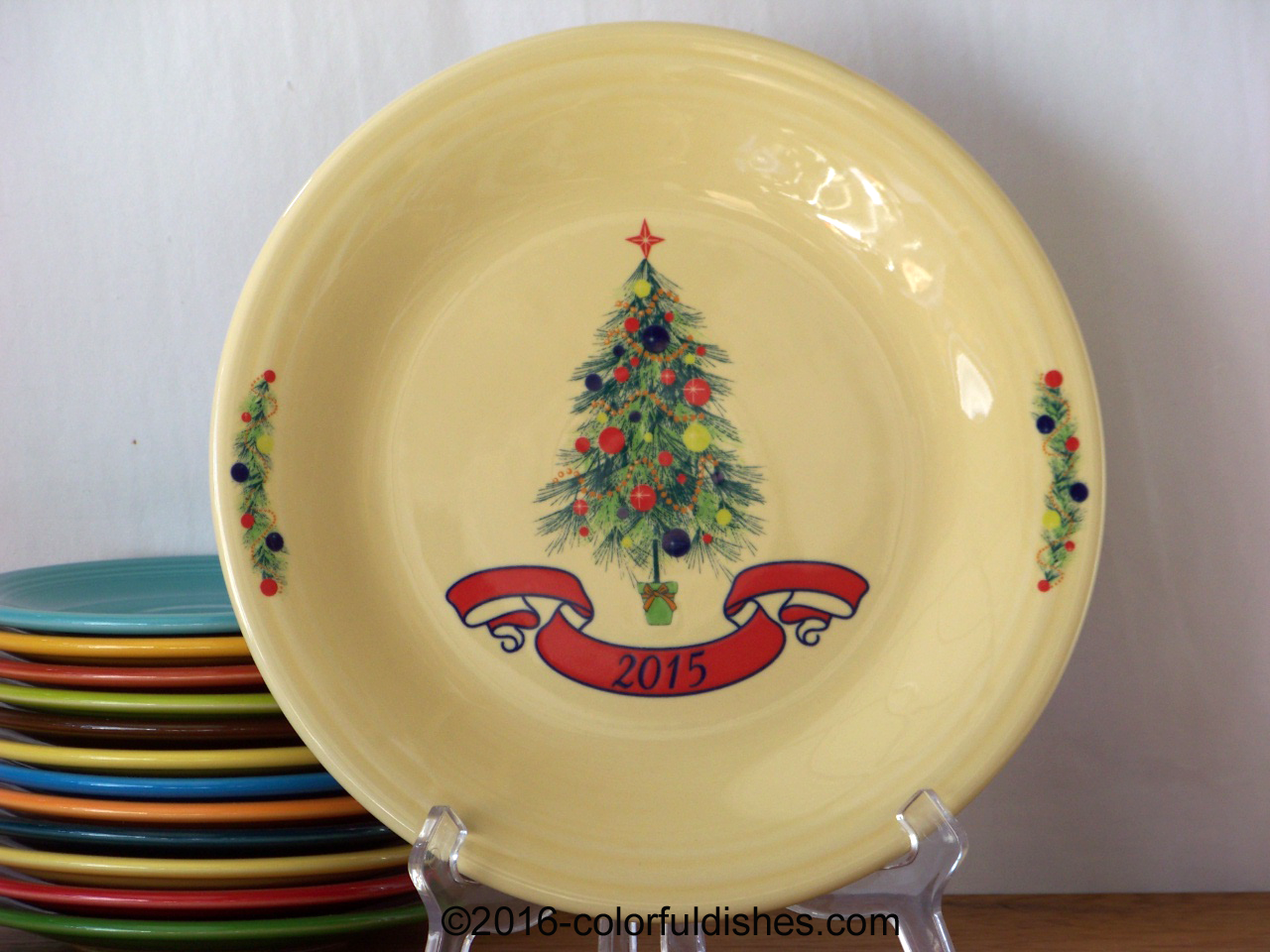 Dillard\u0027s 2015 Fiesta® Christmas Tree Plate & Yearly Christmas Tree - Post 86 Reference Guide