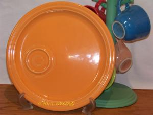 Fiesta® Welled Snack Plate in Tangerine