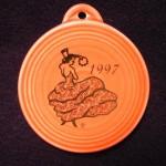 1997 Persimmon Dancing Lady Fiesta® Ornament