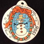 1998 Snowman Fiesta® Ornament