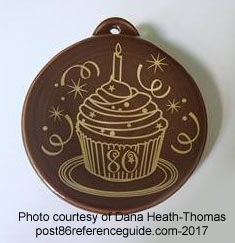 80th Anniversary Cupcake Chocolate Fiesta® Ornament