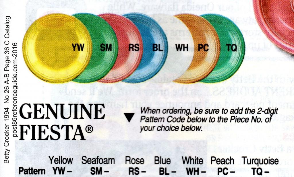 Betty Crocker 1994 No 26A-B Page 36C - Fiesta Colors rg