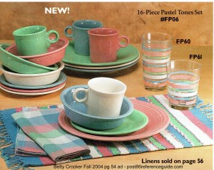 Betty Crocker Fall 2004 pg 54 Pastel 16 pc place setting rg