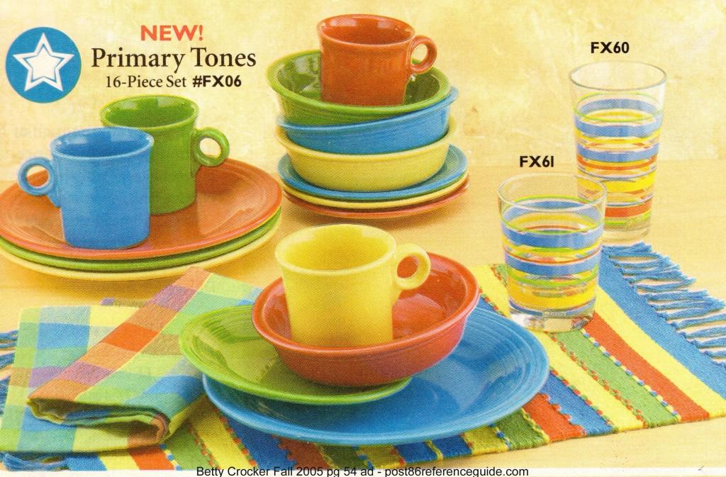 Betty Crocker Fall 2005 pg 54 - 16 pc Primary tones rg