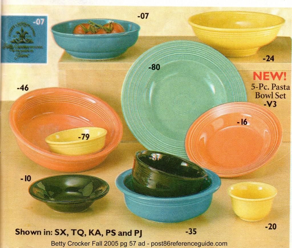 Betty Crocker Fall 2005 pg 57 - 5 pc pasta set rg