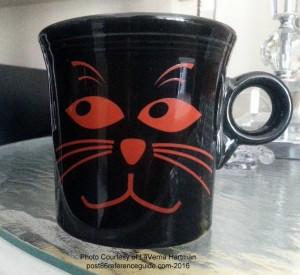 Fiesta® Orange Cat Face Mug