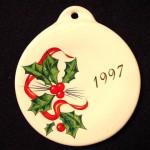 1997 Holly Ribbon Fiesta® Ornament