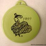 1999 Chartreuse Dancing Lady Fiesta® Ornament