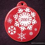 2001 Cinnabar Snowflake Fiesta® Ornament