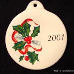 2001 Holly Ribbon Fiesta® Ornament