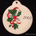 2002 Holly Ribbon Fiesta® Ornament