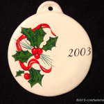 2003 Holly Ribbon Fiesta® Ornament