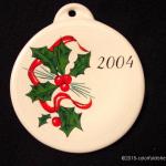 2004 Holly Ribbon Fiesta® Ornament