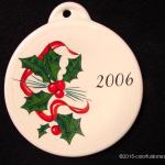 2006 Holly Ribbon Fiesta® Ornament