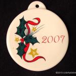 2007 Holly & Stars Fiesta® Ornament