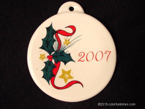 Fiesta® 2007 Holly Stars Ornament