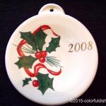 2008 Holly Ribbon Fiesta® Ornament