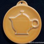 2009 HLCCA Embossed Teapot Tangerine Fiesta® Ornament
