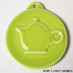 2010 HLCCA Embossed Teapot Lemongrass Fiesta® Ornament