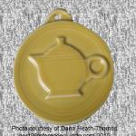 2010 HLCCA Embossed Teapot Sunflower Fiesta® Ornament