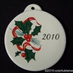 2010 Holly Ribbon Fiesta® Ornament