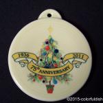 2011 Christmas Tree 75th Anniversary Fiesta® Ornament