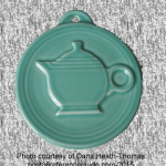 2011 HLCCA Embossed Teapot Turquoise Fiesta® Ornament