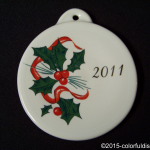 2011 Holly Ribbon Fiesta® Ornament