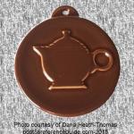 2012 HLCCA Embossed Teapot Chocolate Fiesta® Ornament