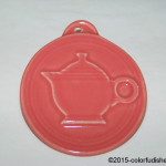 2013 HLCCA Embossed Teapot Flamingo Fiesta® Ornament