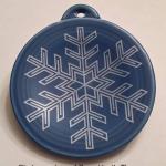 2013 Snowflake on Lapis Fiesta® Ornament