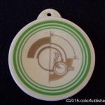 2014 Conference Exclusive Retro Green Stripe Fiesta® Ornament