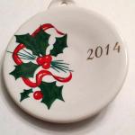 2014 Holly Ribbon Fiesta® Ornament