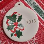 Fiesta® Holly Ribbon 2015 Ornament