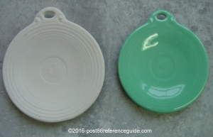 Fiesta® 4th Concave Prototype Ornament Bisque and Glazed
